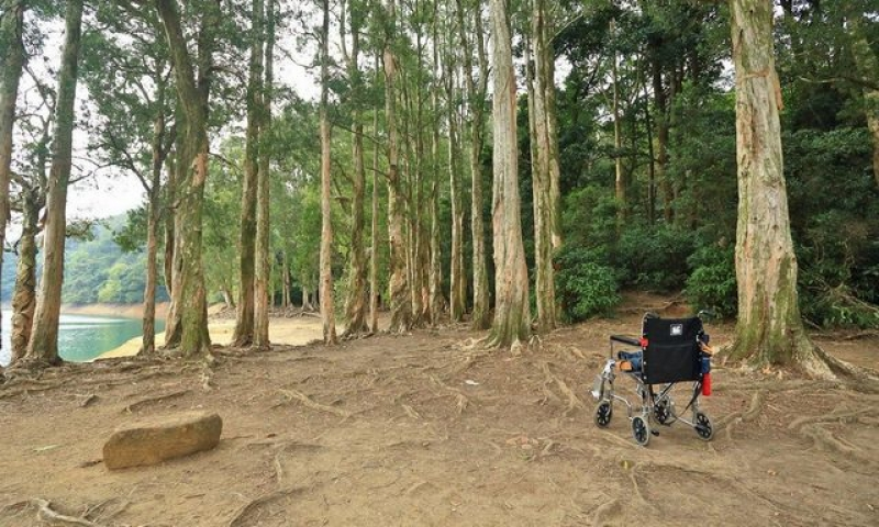 Teddy曾與輪椅人士到城門水塘實地視察。
