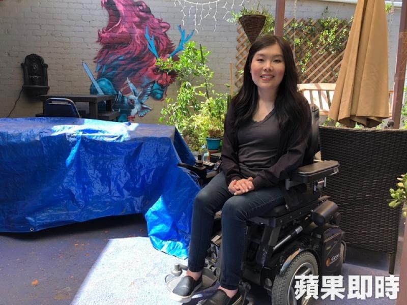 肌萎無阻電影夢 華裔女後製師好萊塢闖出名堂