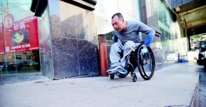 王兆平加強上下坡的訓練,提高上肢的力量