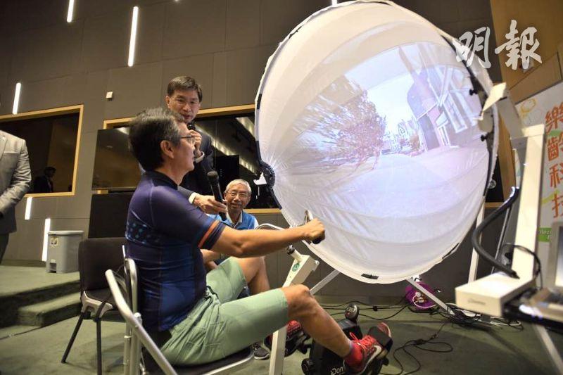 樂齡科技博覽近380件展品 長者復康可踩單車「環遊世界」