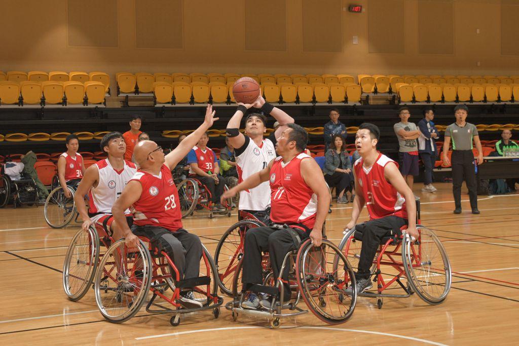 第七屆全港運動會 — 輪椅籃球挑戰賽四強賽 新界東、港島西報捷勇闖決賽