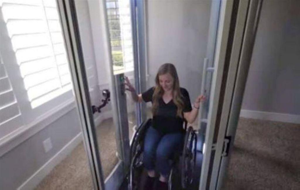 手作男寵輪椅女友 親手打造專屬電梯