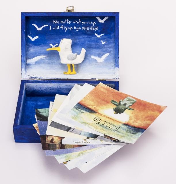 金獎作品-不完美的海鷗,異於同類的海鷗。