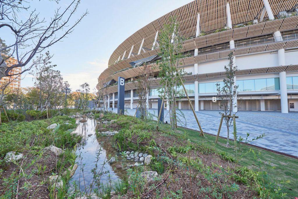 環抱的國立競技場亮相——東京奧運帕運主會場
