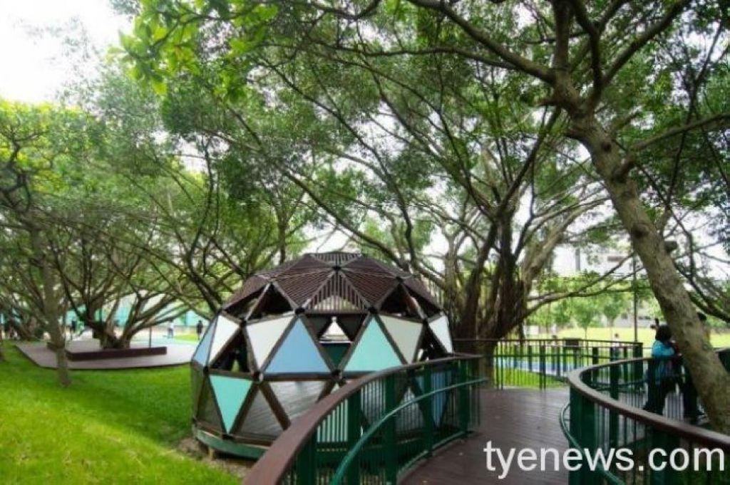 第一座公園溜索大溪埔頂公園 共融式遊戲場滿足各年齡層遊憩需求