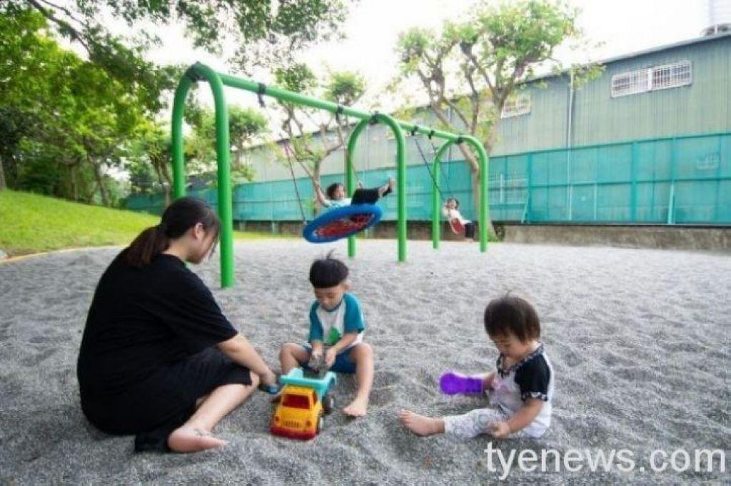 大溪區埔頂公園共融式遊戲場,4月17日起正式開放使用