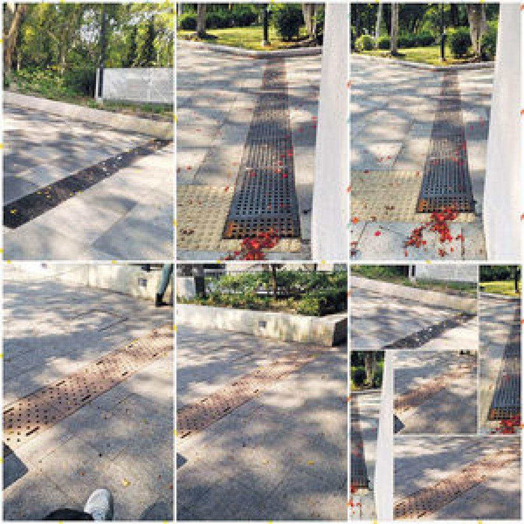 經麥耀強的建議後,有公園的渠蓋作出改善,方便輪椅人士。