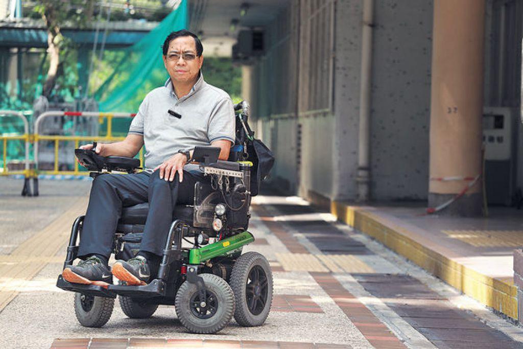 輪椅鬥士力爭 無障礙周圍轆 向各機構提建議 勉同路人積極向前