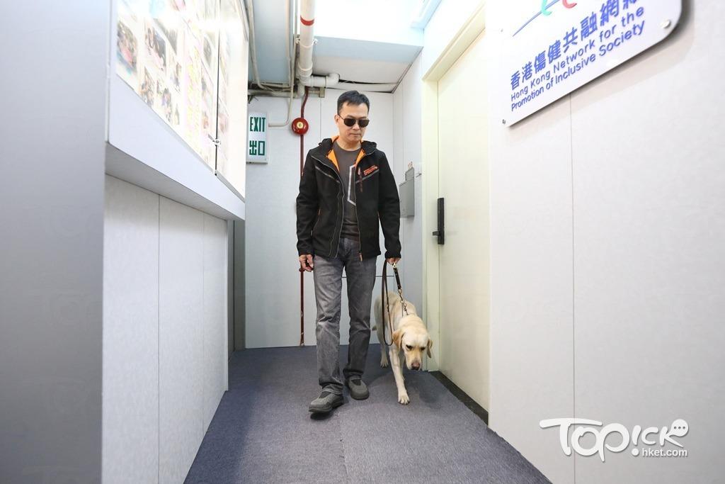 導盲犬學習的是英語指令,林東釗笑言,說著說著他和牠漸漸用中文溝通,竟也毫無障礙