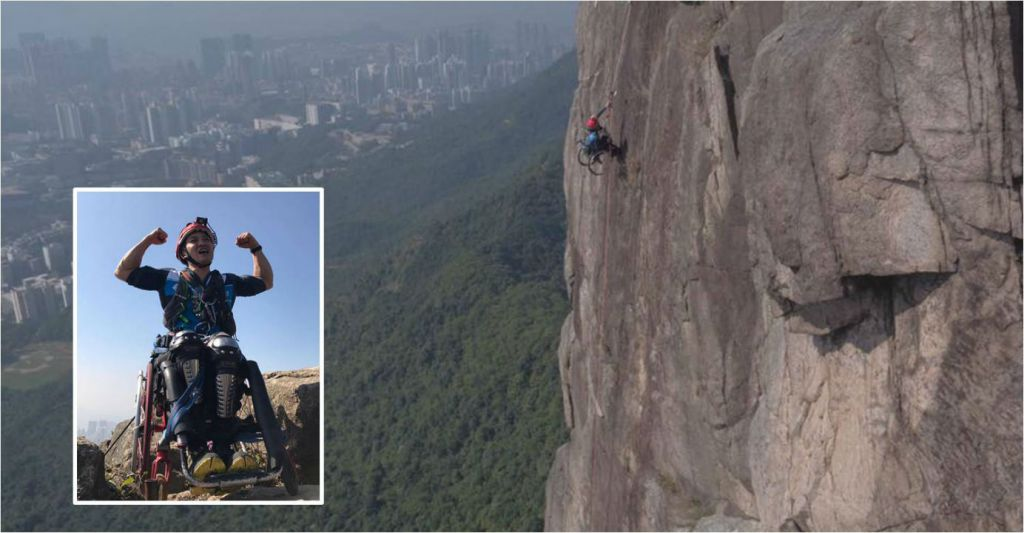 輪椅攀登者黎志偉攀登如心廣場創舉 籌得善款達港幣770萬