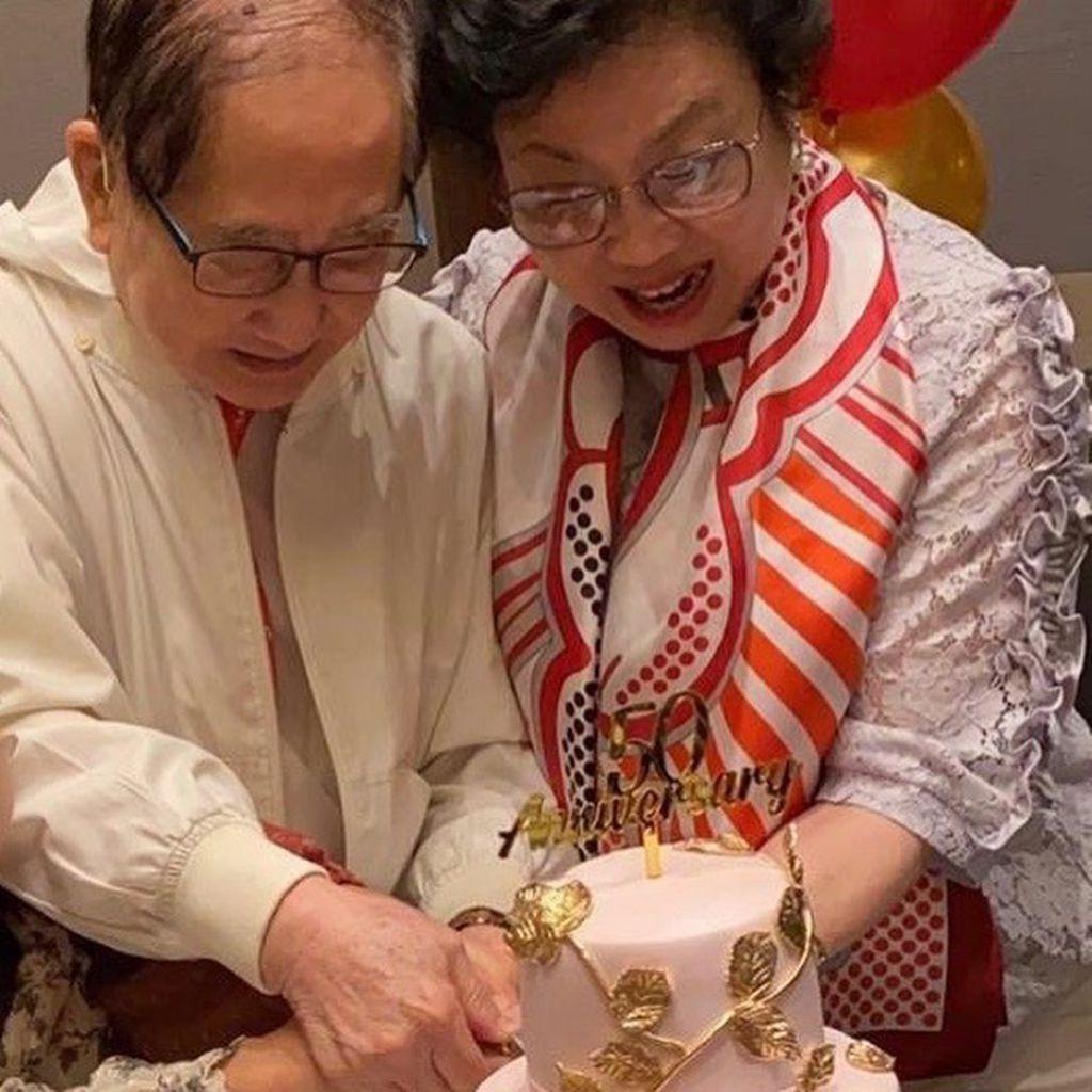 黎姿父母去年慶祝結婚50載。(IG圖片)