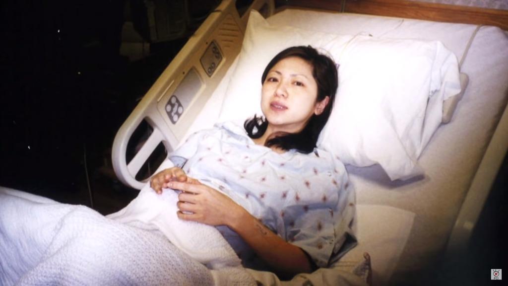 美香在2003年準備迎來第一個小生命。
