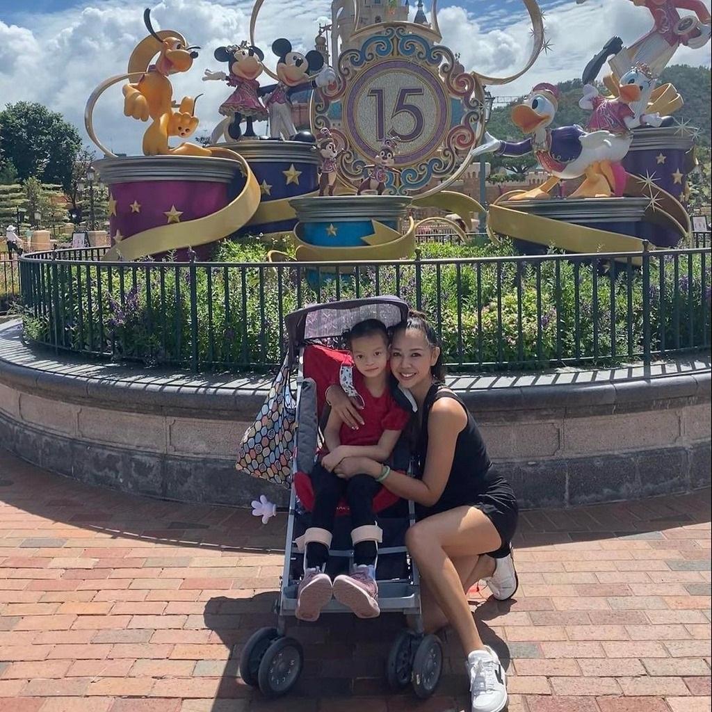 Margaret一家到迪士尼Staycation。