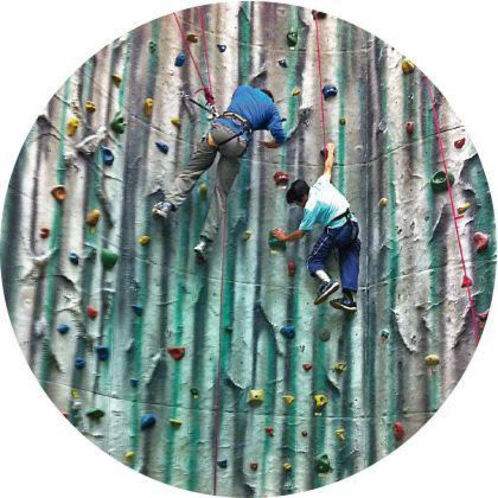 有腰力、身體較靈活的傷殘人士,在安全繩輔助下可以挑戰攀石。