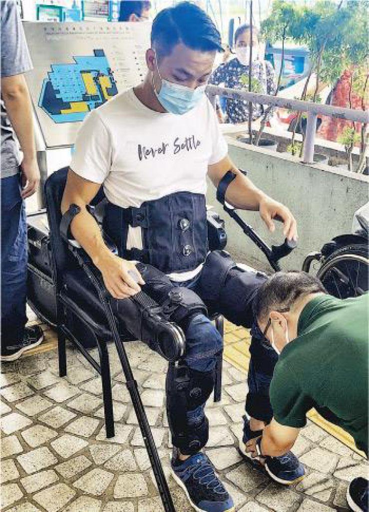 黎志遠使用機械腳已3年,近日正添置個人機械腳,希望身體力行告 . . . . . .