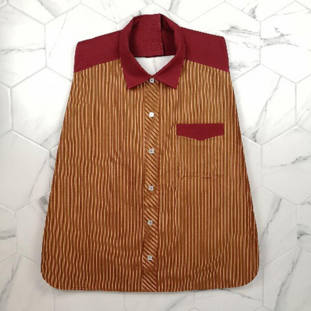 男裝恤衫款口水肩 (兩色可選)