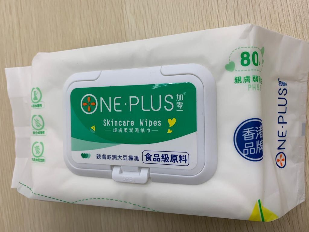 One Plus 加零一親膚柔潤濕紙巾 (20 x 14 cm)