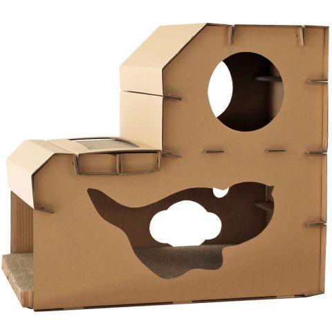 Cat House with Cat Scratch Board