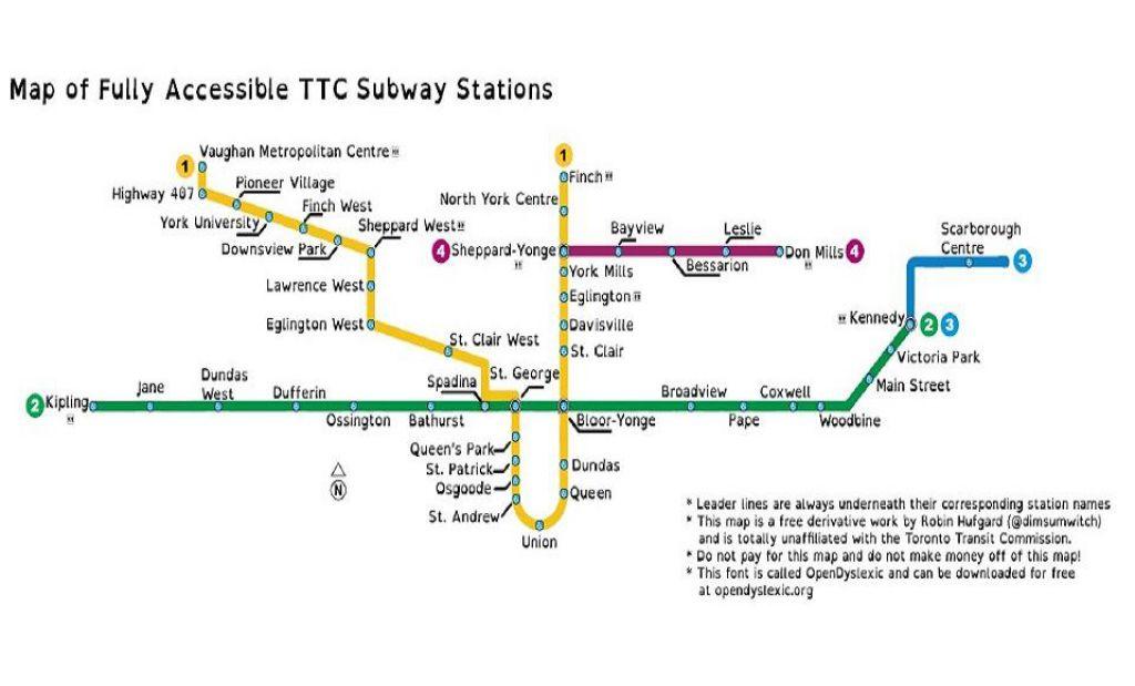 解行动不便者之忧 这张地铁站点图用得上